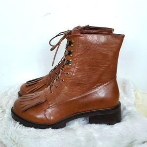 NWOB Torrid Faux Leather Lace Up Combat Boots 9.5W
